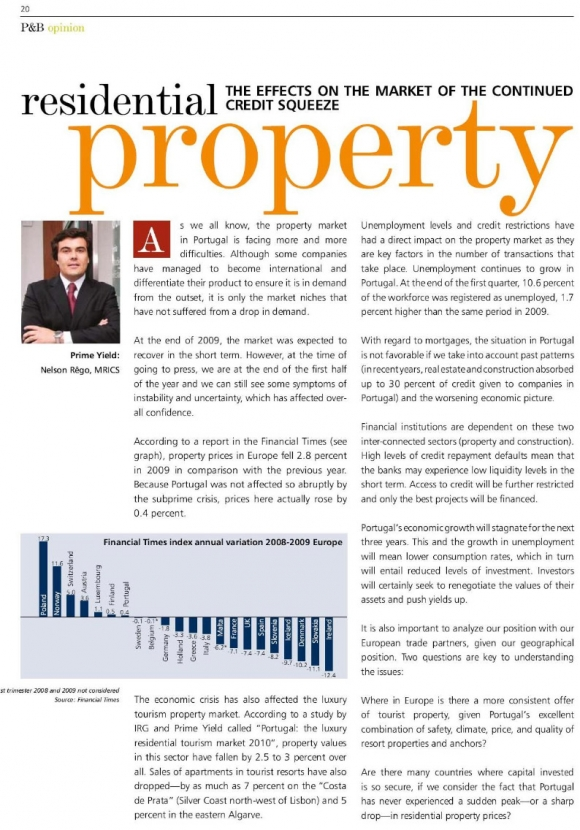 Residencial Property – The effects on the market of the continued credit squeeze
